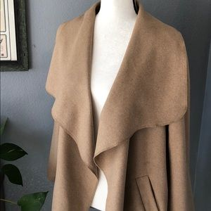 Jackets & Blazers - New! Waterfall Midi Trench In Classic Camel